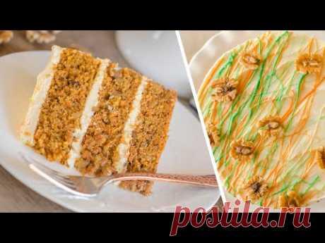 Вкуснее не бывает! МОРКОВНЫЙ ТОРТ | нежные коржи + крем-чиз | CARROT CAKE RECIPE