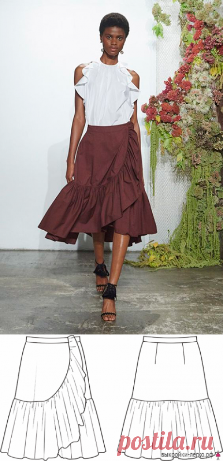 Pattern of a summer skirt with a flounce | it is simple to Sew (solution 40-60) — Выкройки-Легко.рф