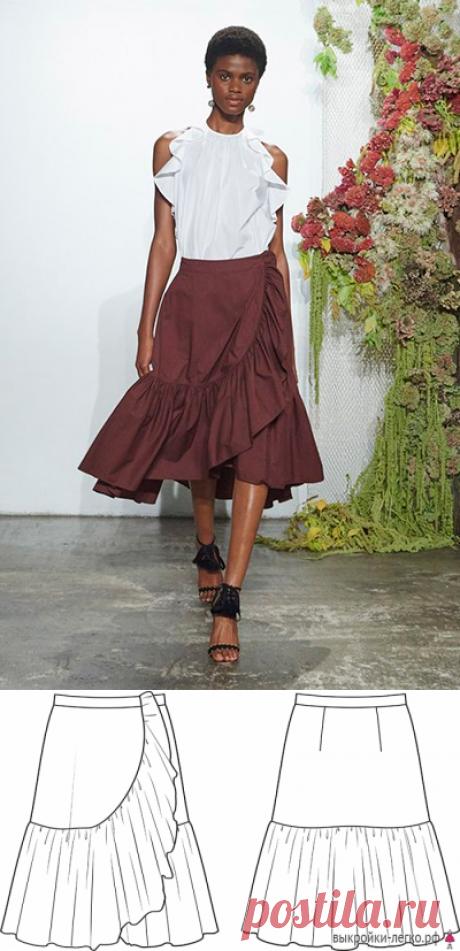 Выкройка летней юбки с воланом (р-р 40-60) | Шить просто — Выкройки-Легко.рф