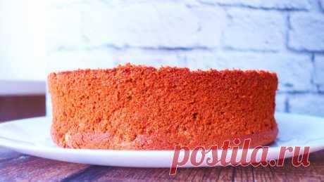 Сочный бисквит для торта