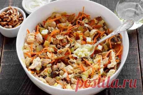 Как приготовить салат «Дядя Ваня» с курицей и грибами- Со Вкусом