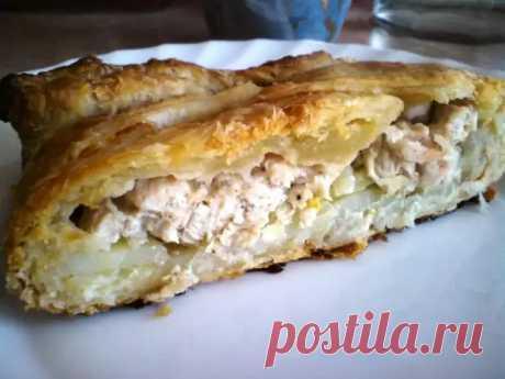 Курник с курицей и картошкой: очень вкусный и сытный пирог - Скатерть-Самобранка - медиаплатформа МирТесен