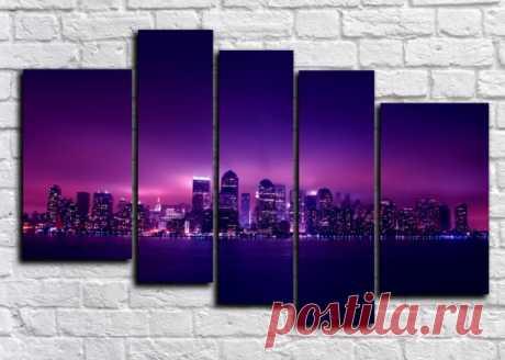 Свет большого города » Купить модульные картины + подарок!