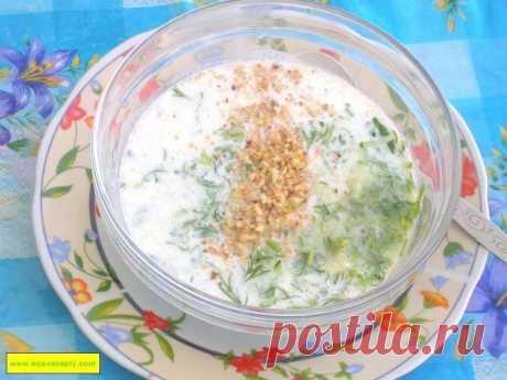 Холодный суп из зелени с огурцами на кефире для похудения рецепт с фото пошагово - 1000.menu