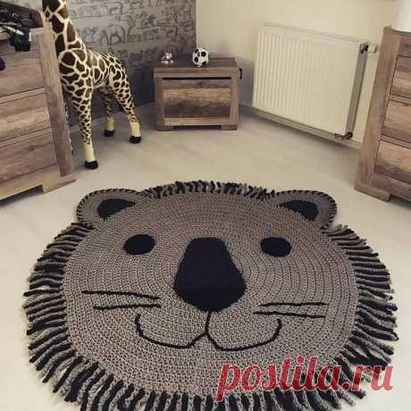 вязаные коврик - отличная идея для детской.