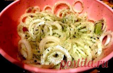 Лучшие кулинарные рецепты: Маринованный лук