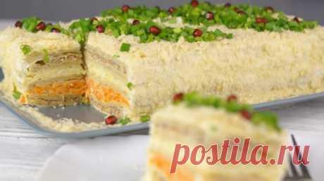 Закусочный торт «Наполеон»: самый вкусный торт-салат | Мой милый дом