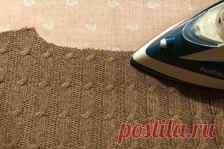 Как сшить простой теплый свитер на швейной машинке — Мастер-классы на BurdaStyle.ru