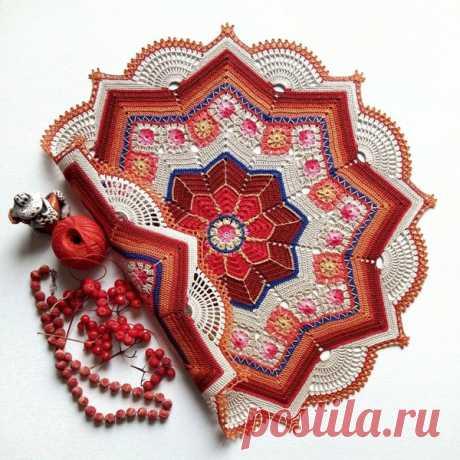 Схема вязания салфетки или коврика