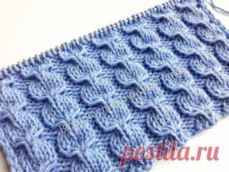 Красивый узор спицами для вязания шапок, носков, пледов, свитеров   Вязание спицами CozyHands   Яндекс Дзен