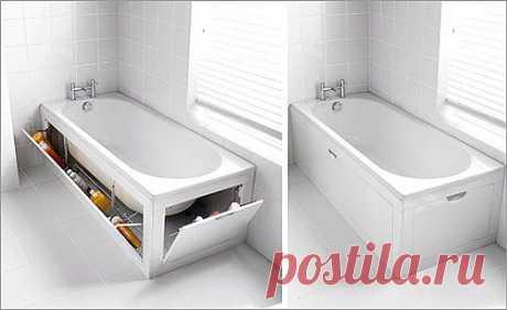 Необычный экран для ванной..