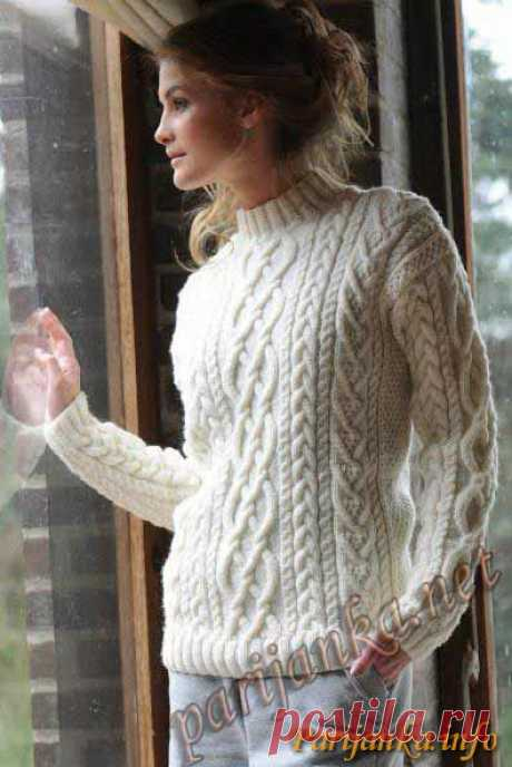 Пуловер с коротким воротником (ж) 30*159 BDF №2254