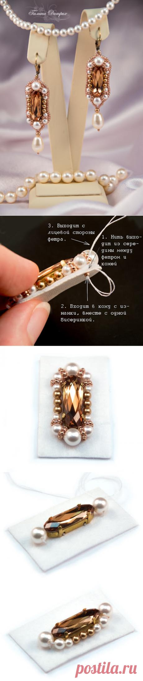 """Galina Dietrih: Мастер-класс по вышивке бисером: серьги """"Версаль"""""""