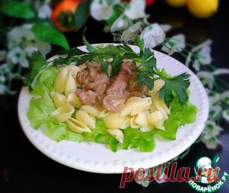 Куриная печень в бархатном соусе - кулинарный рецепт