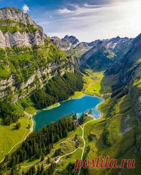 Озеро Зеальпзе, Швейцария
