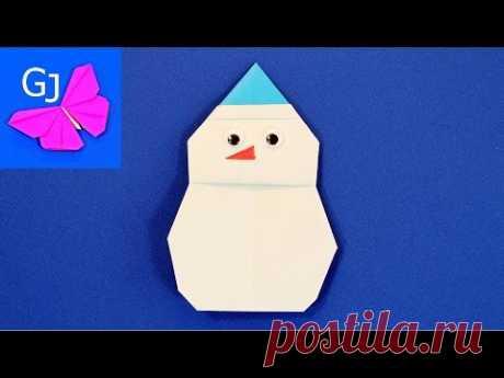Оригами снеговик