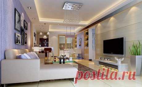 Освещение в интерьере гостиной - строительство, ремонт, дизайн, интерьер