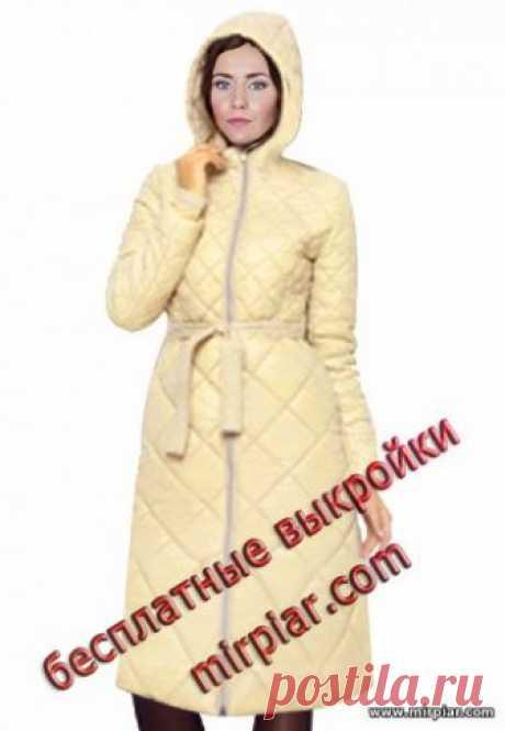 """""""MirPiar.com"""" - Справочно-информационный портал. Донецк - Каталог файлов.Модное стеганое пальто с капюшоном. Готовые бесплатные выкройки в натуральную величину Размеры (европейские) 36, 40, 44"""