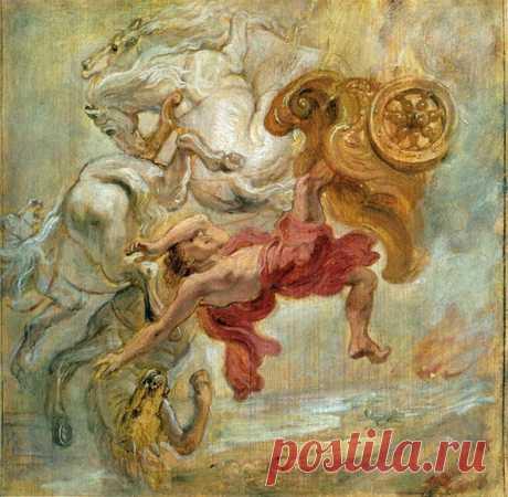 Падение Фаэтона - 1636. Питер Пауль Рубенс. Описание картины, скачать репродукцию.