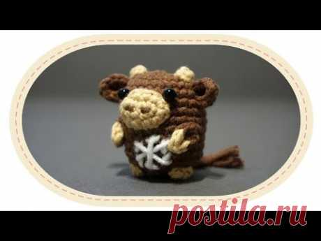 Вязаный бычок амигуруми. Crochet amigurumi bull.