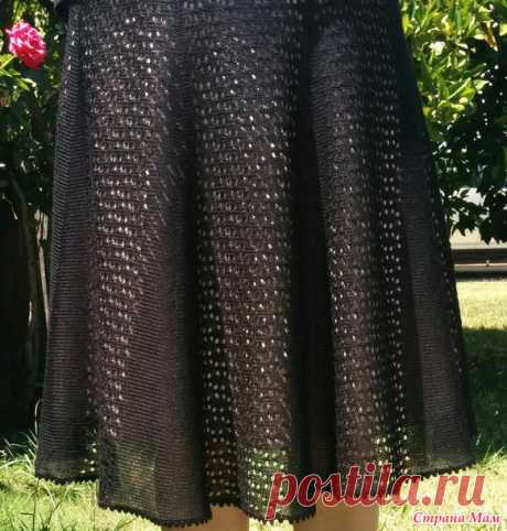 . Ажурная юбка в поперечном вязании. - Машинное вязание - Страна Мам