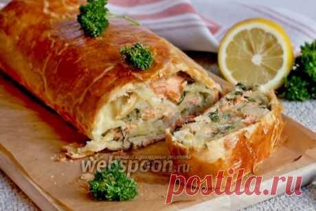 Рулет с сёмгой и зеленью рецепт с фото, как приготовить на Webspoon.ru