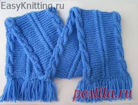 La bufanda infantil bilateral con zhgutami (el vídeo)