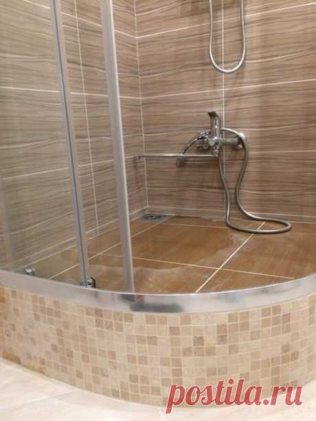 Встроенная душевая кабина вместо ванны своими руками