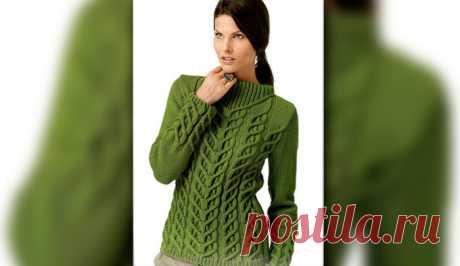 Пуловер с диагональным узором | Loveknitting.ru