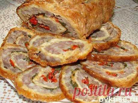 Рулет из сыра с мясным фаршем (закуска) - Простые рецепты Овкусе.ру