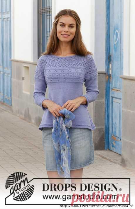 Taormina Sweater by DROPS Design.