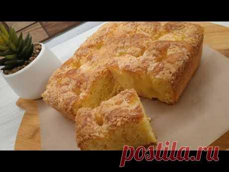 Мой любимый сахарный пирог: словно с заварным кремом внутри. Французский пирог со сливками.   Неправильная Мама   Яндекс Дзен
