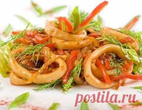 Салат из кальмаров - рецепт приготовления с фото от Maggi.ru