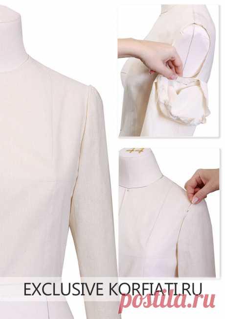 Метод наколки - выкройка рукава от Анастасии Корфиати Метод наколки: выкройка рукава. Метод наколки позволяет очень просто конструировать базовую выкройку плечевого изделия. Потребуется макетная ткань и линейка