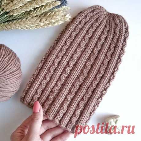 Интересная шапочка спицами из категории Интересные идеи – Вязаные идеи, идеи для вязания