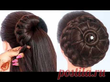 8 easy juda hairstyles for gown, lehenga, & saree    new hairstyle for girls    trending hairstyles