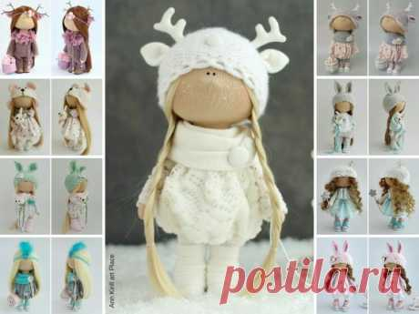 Unique Love Doll, Interior Art Doll, Tilda Gift Doll, Nursery Rag Doll, Bambole Puppen, Muñecas White Doll, Handmade Fabric Doll by Irina B Hello, dear visitors!  This is handmade cloth doll created by Master Irina B. (Kiev, Ukraine). Doll is 28 cm (11.02 inch) tall and made of only quality materials. All dolls stated on the photo are mady by Irina B. You can find them in our shop searching by artist name: