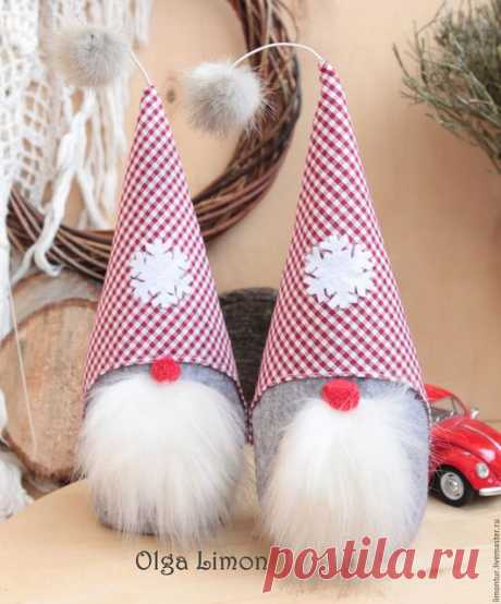 Купить Деда Бро с красным носом - серый, игрушка, красный, клетка, дедушка мороз