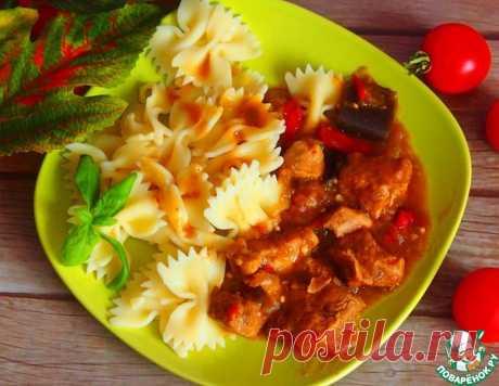 Гуляш с баклажаном – кулинарный рецепт