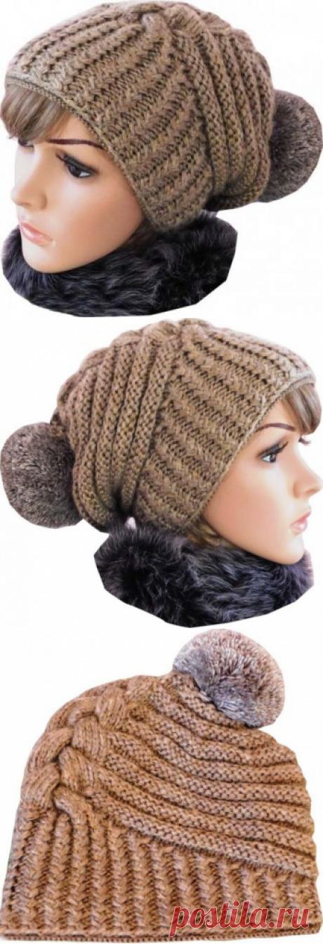 Зимняя шапка по мотивам известного дизайнера Negin Mirsalehi, видео-урок, Вязание для женщин