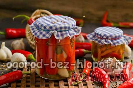 Маринованный острый перец по-армянски Маринованный острый перец по-армянски – огненная заготовка на зиму с чесночком, в кисло-сладком маринаде с растительным маслом. Такого перца много не съешь – эта закуска на любителя, но если распробовать, то за уши не оттащишь, особенно мужчин!На приготовление понадобится 45 минут. Из ингредиентов, указанных в рецепте получится 1 полулитровая банка.Ингредиенты:Как приготовить маринованный острый перец по-армянски