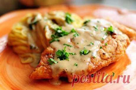 Куриное филе в сливочном соусе — Кулинария для всех