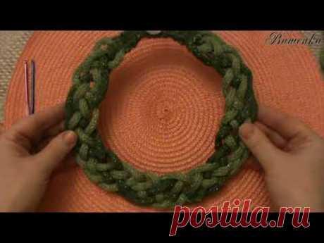 Вязание крючком и мини аппаратом для вязание шнуров оригинального украшения КОЛЬЕ КОСАМИ | Вязание крючком для начинающих
