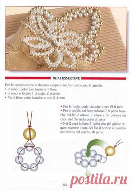 El esquema de la flor muy hermosa de los abalorios.