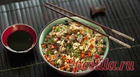 Рис с куриными желудками по-китайски, пошаговый рецепт с фото