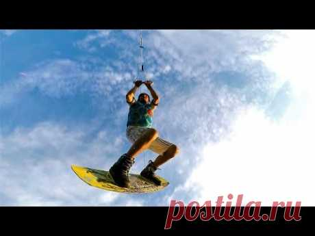 Вейкбординг в Шапкино Наро-Фоминский район / Прыжки с трамплина вейкборд - YouTube