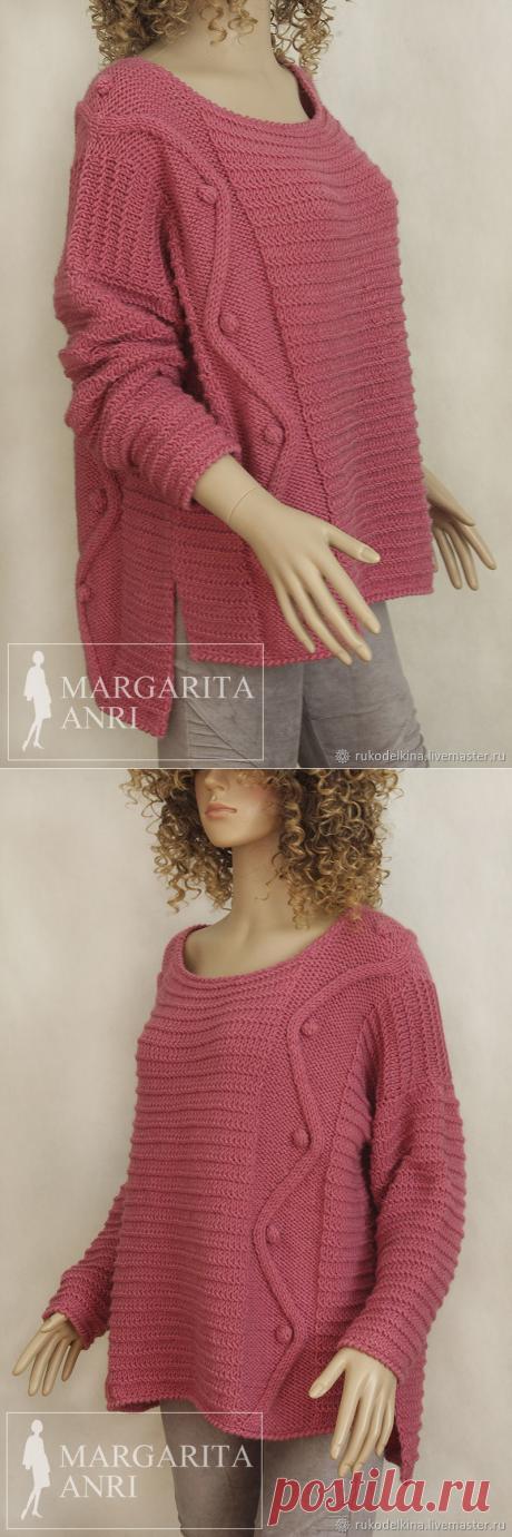 """Вязаный свитер """"Нэнси"""" – купить в интернет-магазине на Ярмарке Мастеров с доставкой - FXP47RU   Москва"""
