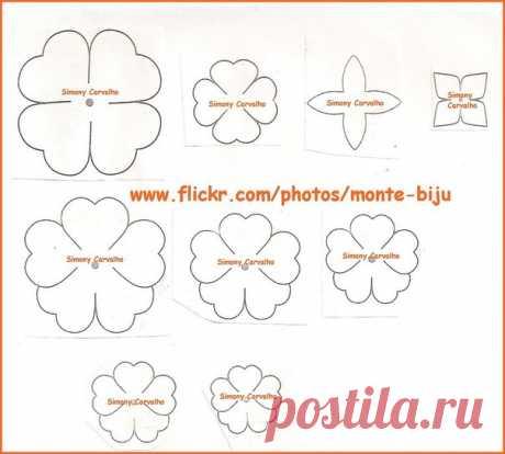Шаблоны цветов для вырезания из бумаги - Шаблоны - Барахолка - Каталог файлов - МЕТОДИЧЕСКИЙ СУНДУЧОК - Сайт учителя Изо