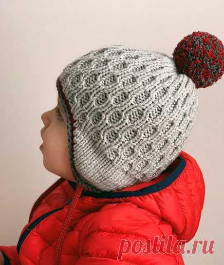 Анатомическая шапка – спасение для ребенка! Вязание на спицах.   Вишня Вяжет   Яндекс Дзен