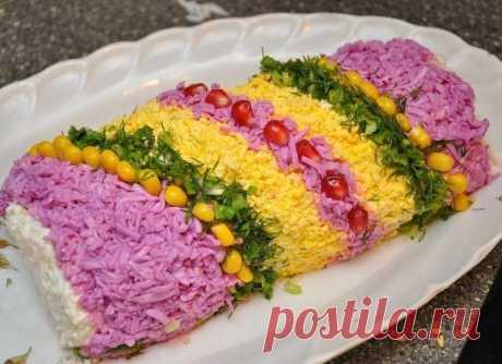 Салат «НОВОГОДНЯЯ ХЛОПУШКА»...вкусно,быстро,празднично...